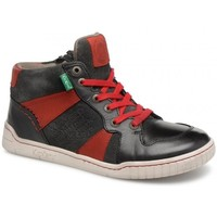 Chaussures Garçon Boots Kickers basket ville montante wazabi rouge