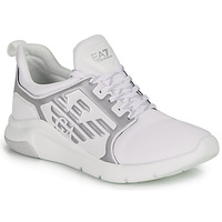 Chaussures Baskets basses Emporio Armani EA7 RACER REFLEX CC Blanc / Argent