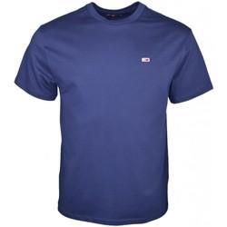 Vêtements Homme T-shirts manches courtes Tommy Jeans T-Shirt col rond  bleu marine pour homme Bleu