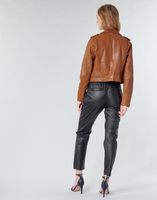 KYOTO  Oakwood  vestes en cuir / synthétiques  femme  cognac
