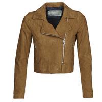 Vêtements Femme Vestes en cuir / synthétiques Oakwood ZULINA Cognac Suede