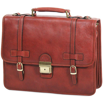 Sacs Homme Porte-Documents / Serviettes Katana Cartable cuir de vachette gras 3 soufflets K 31039 Marron clair
