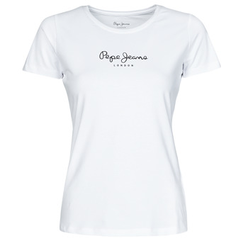 Vêtements Femme T-shirts manches courtes Pepe jeans NEW VIRGINIA Blanc