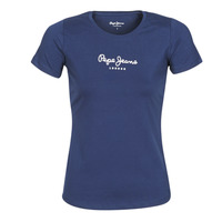Vêtements Femme T-shirts manches courtes Pepe jeans NEW VIRGINIA Marine