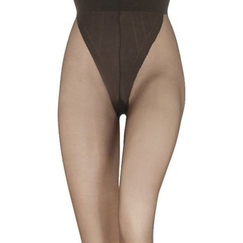 Sous-vêtements Femme Collants & bas Le Bourget Collant transparent satiné (ex voilance) 15D Marron