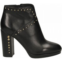 Chaussures Femme Low boots Café Noir TRONCHETTO TACCO ALTO E PLATEAUX CON APERTURA DAVA 010-nero