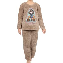 Vêtements Fille Pyjamas / Chemises de nuit Admas Pyjama manches longues pantalon Corel The Foxes marron Santoro Marron