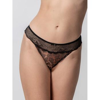 Sous-vêtements Femme Tangas Luna Brésilien Wildcat noir  Splendida Noir