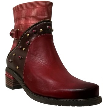 Chaussures Femme Bottines Laura Vita Etchelo 20 Rouge cuir