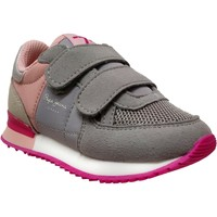 Chaussures Fille Baskets basses Pepe jeans Sydney basic girl velcro Gris/rose