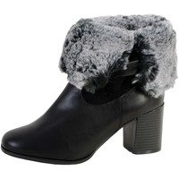 Chaussures Femme Bottines The Divine Factory Bottine Fourrees QL3817 Noir
