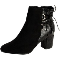 Chaussures Femme Bottines The Divine Factory Bottine Talon QL3819 Noir