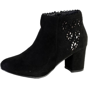 Chaussures Femme Bottines The Divine Factory Bottine Talon GD3833 Noir