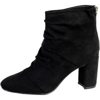 Chaussures Femme Bottines The Divine Factory Bottine Talon QL3827 Noir