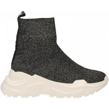 Chaussures Femme Baskets montantes Emanuélle Vee SNEAKER CALZINO black