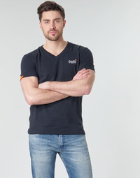 Vêtements Homme T-shirts manches courtes Superdry ORANGE LABEL VNTGE EMB VEE TEE Eclipse Navy