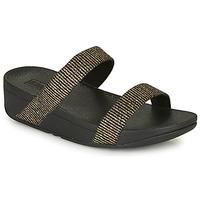 Chaussures Femme Sandales et Nu-pieds FitFlop LOTTIE Black / Gold