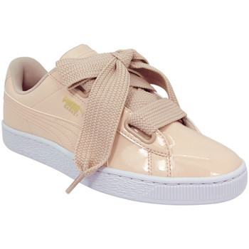 Chaussures Femme Baskets basses Puma Baskets basses W BASKET HEART PATENT rose
