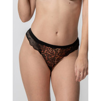 Sous-vêtements Femme Strings Luna String Wildcat noir  Splendida Noir