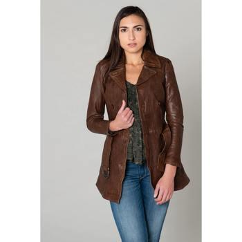Vêtements Femme Vestes en cuir / synthétiques Daytona ANNA SHEEP AOSTA BISON Bison