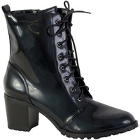 Chaussures Femme Bottines The Divine Factory Bottine Lacet Noir