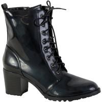 Chaussures Femme Bottines The Divine Factory Bottine Lacet QL1626-C Noir