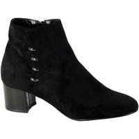 Chaussures Femme Bottines The Divine Factory Bottine Talon QL3826 Noir