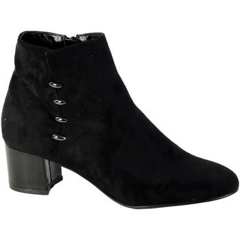Chaussures Femme Bottines The Divine Factory Bottine Talon Noir