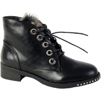 Chaussures Femme Boots The Divine Factory Boots Fourrees Noir