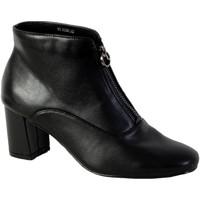 Chaussures Femme Bottines The Divine Factory Bottine Talon QL3825 Noir