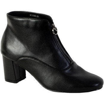 Chaussures Femme Bottines The Divine Factory Bottine Talon Noir