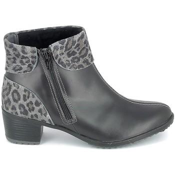 Chaussures Femme Bottines Boissy Boots Noir Leopard Noir