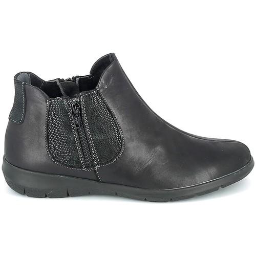 Chaussures Femme Boots Boissy Boots Noir texturé Noir