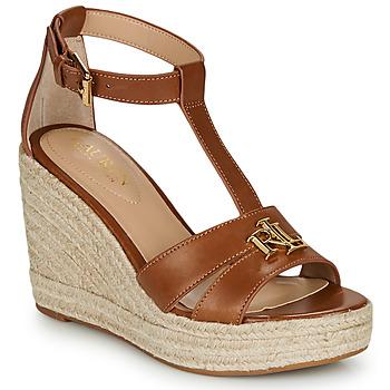 Chaussures Femme Sandales et Nu-pieds Lauren Ralph Lauren HALE ESPADRILLES CASUAL Cognac