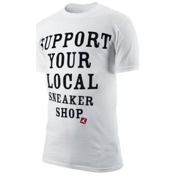 Vêtements Homme T-shirts manches courtes Air Jordan T-shirt Support your local sneaker shop Blanc