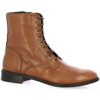 Chaussures Femme Boots Pao Rangers cuir Cognac