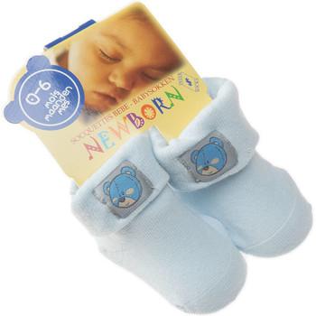 Accessoires Enfant Chaussettes Intersocks Chaussettes Bottons - Coton - New Born Bleu