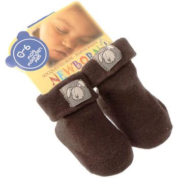 Accessoires Enfant Chaussettes Intersocks Chaussettes Bottons - Coton - New Born Marron