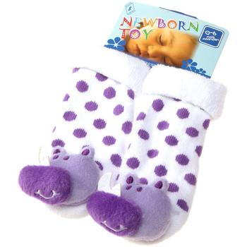 Accessoires Enfant Chaussettes Intersocks Chaussettes Bottons - Coton - Newborn Toy Violet