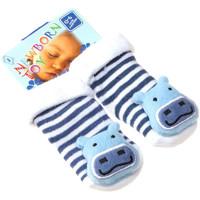 Accessoires Enfant Chaussettes Intersocks Chaussettes Bottons - Coton - Newborn Toy Bleu