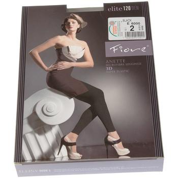 Vêtements Femme Leggings Fiore Legging chaud long - Ultra opaque - Anette Noir
