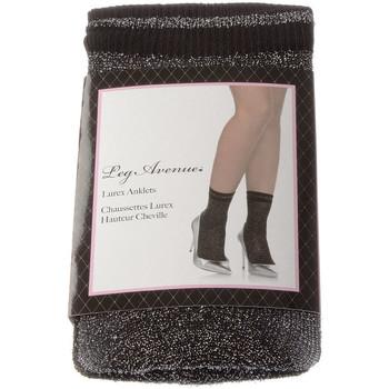 Accessoires textile Femme Chaussettes Leg Avenue Chaussettes Mi-Hautes - Nylon - Lurex Anklets Noir