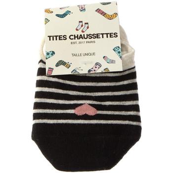 Accessoires Femme Chaussettes Tites Chaussettes Chaussettes Protège-pieds - Coton Noir