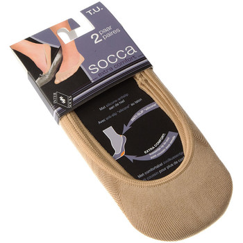 Accessoires textile Femme Chaussettes Intersocks Chaussettes Protège-pieds - Coton Beige