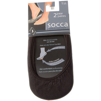 Accessoires Femme Chaussettes Intersocks Chaussettes Protège-pieds - Coton Noir