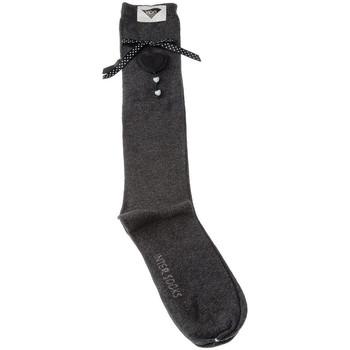 Accessoires textile Fille Chaussettes Intersocks Chaussettes Longues - Coton Gris foncé