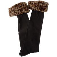 Accessoires Femme Chaussettes Intersocks Chaussettes Longues Time Out Noir