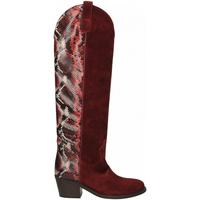 Chaussures Femme Bottes ville Via Roma 15 TEXANO ALTO 347 chianti-rosso