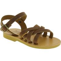 Chaussures Fille Sandales et Nu-pieds Attica Sandals HEBE NUBUK DK BROWN Marrone medio