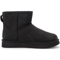 Chaussures Femme Bottes de neige UGG Bottine Ugg Classic II Mini en cuir noir Noir